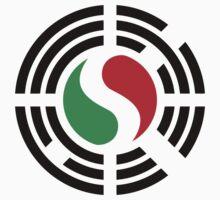 Korean Italian Multinational Patriot Flag Series Baby Tee