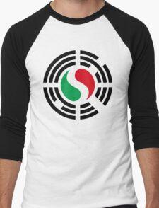 Korean Italian Multinational Patriot Flag Series Men's Baseball ¾ T-Shirt