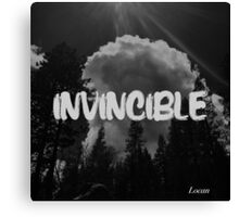 INVINCIBLE  Canvas Print