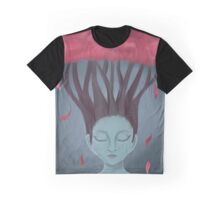 Sleeping Pink Tree Graphic T-Shirt