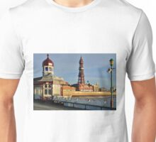 View of Blackpool Tower on North Pier Unisex T-Shirt