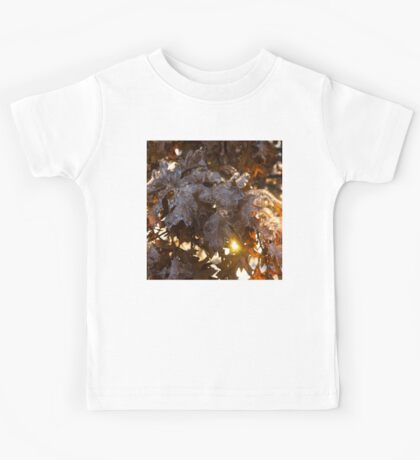 Honey Colored Honeycomb Ice With a Sun Flare Kids Tee