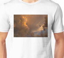 Storm Clouds Sunset - Dramatic Oranges Unisex T-Shirt