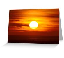 Sunset over the Sea Greeting Card