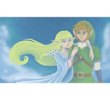 Link and Zelda ~ Skyward Sword Photographic Print