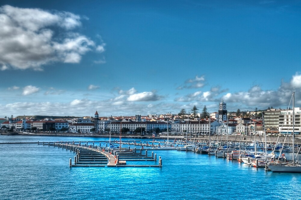 Harbour at Ponta Delgada, Azores by Stephen Frost
