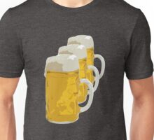 3 mugs of beer Unisex T-Shirt