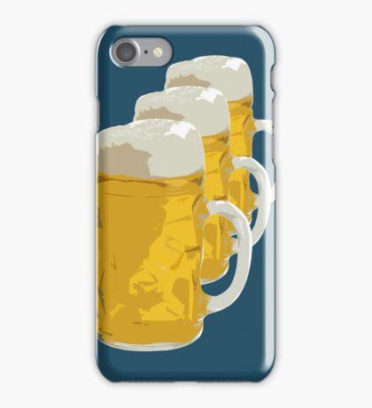 3 mugs of beer iPhone Case/Skin