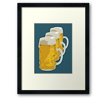 3 mugs of beer Framed Print