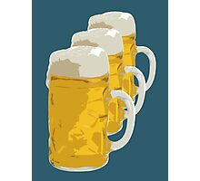 3 mugs of beer Photographic Print
