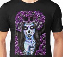 Dai de los Muertos, Purple Unisex T-Shirt