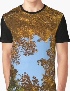 Brilliant Autumn Canopy - a Window to the Sky Vertical Graphic T-Shirt