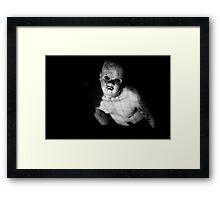 Child(ish) Mask Horror Photography  Framed Print