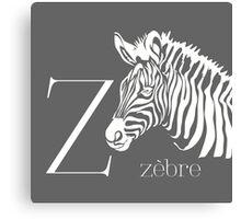 ABC-Book French Zebra Canvas Print