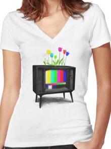 Test Garden Women's Fitted V-Neck T-Shirt