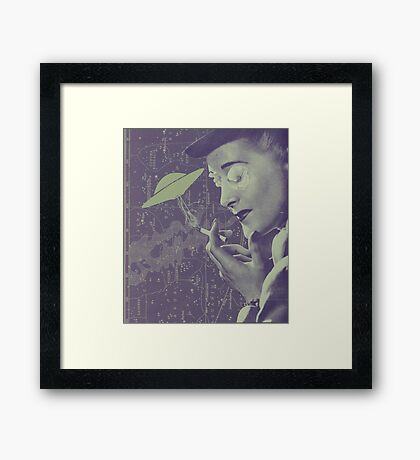 The Cigarette Smoking Woman Framed Print