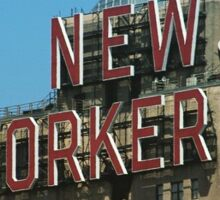 New Yorker sign Sticker