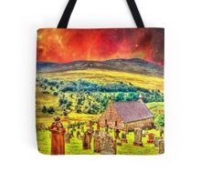 Church on the approach to Mount Doom Tote Bag
