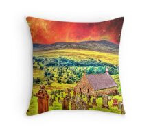 Church on the approach to Mount Doom Throw Pillow