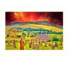 Church on the approach to Mount Doom Art Print