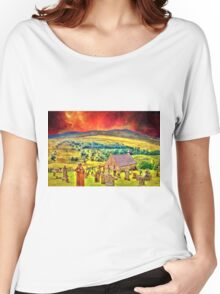 Church on the approach to Mount Doom Women's Relaxed Fit T-Shirt