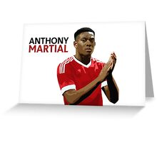 Anthony Martial Vector  Greeting Card