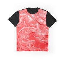 Curvscape Red Graphic T-Shirt