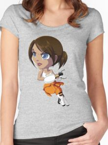 Portal: Chell Women's Fitted Scoop T-Shirt