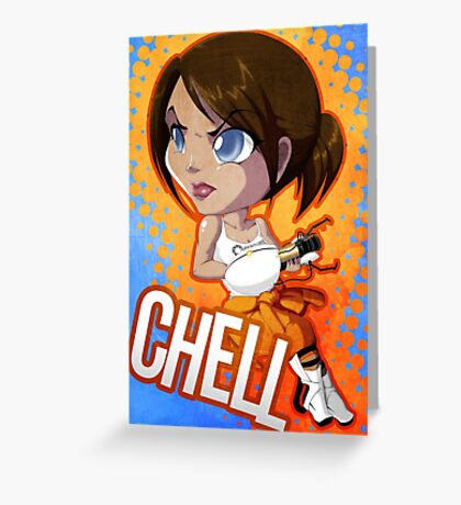 Portal: Chell Greeting Card
