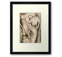 Feather Pen Framed Print