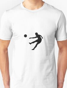 Soccer player trying to kick silhouette Unisex T-Shirt
