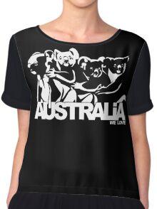 koala national australia animal happy hour vector art  Chiffon Top