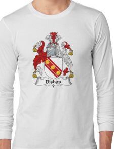 Bishop Coat of Arms / Bishop Family Crest Long Sleeve T-Shirt