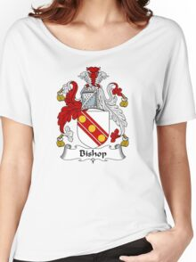 Bishop Coat of Arms / Bishop Family Crest Women's Relaxed Fit T-Shirt