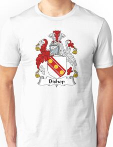 Bishop Coat of Arms / Bishop Family Crest Unisex T-Shirt