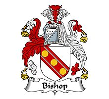 Bishop Coat of Arms / Bishop Family Crest Photographic Print