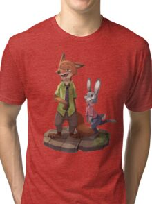 Zootopia - Nick and Judy Tri-blend T-Shirt
