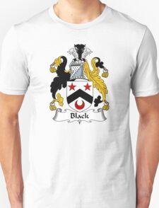 Black Coat of Arms/ Black Family Crest Unisex T-Shirt