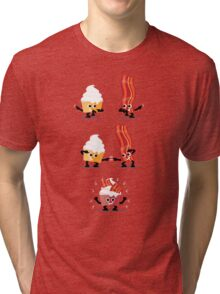 Character Fusion - Bacon Cupcakes Tri-blend T-Shirt