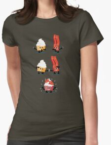 Character Fusion - Bacon Cupcakes Womens Fitted T-Shirt