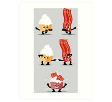 Character Fusion - Bacon Cupcakes Art Print