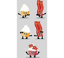 Character Fusion - Bacon Cupcakes Photographic Print