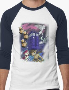 Doctor Whooves Men's Baseball ¾ T-Shirt