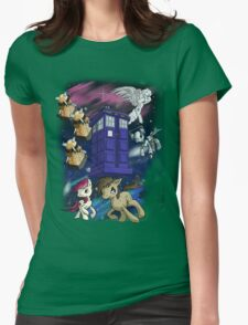 Doctor Whooves Womens Fitted T-Shirt