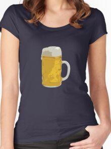 Beer mug Women's Fitted Scoop T-Shirt