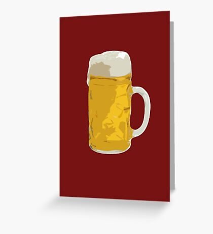 Beer mug Greeting Card