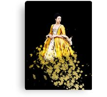 Fraser Feathers - Yellow Canvas Print