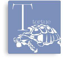 ABC-Book French tortoise Canvas Print