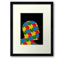 puzzle head design Framed Print