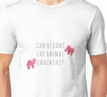 Can Vegans Eat Animal Crackers? Unisex T-Shirt